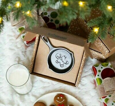 Lodge Cast Iron 2018 Limited Edition Holiday Mini Skillet - Gingerbread Man
