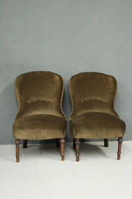 Pair of Chairs/Beginning' 900/Good Condition/Vintage