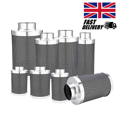 Carbon Filter 4 5 6 8 Inch Hydroponics Grow Room Odour Control Ducting Air UK
