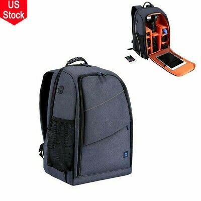 Large Camera Backpack Bag with Waterproof Cover for Canon Nikon Sony DSLR THE