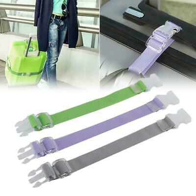 3 Colors Adjustable Baggage Luggage Buckle Strap Travel Suitcase Strap Clip Belt