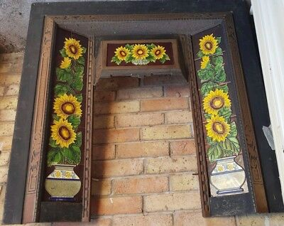 Victorian Cast Iron fire Surround with Original Tiles