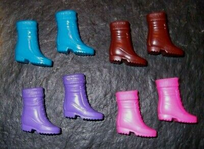 """BARBIE DOLL SHOES k88 - 4 PAIRS of BOOTS W/ """"SOCK"""" TOP"""