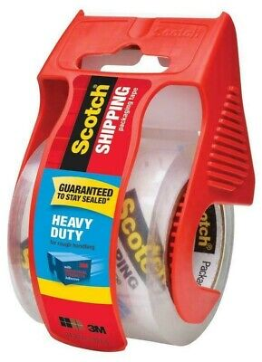 Clear Packing Tape Scotch Shipping Heavy Duty Strong Tape 2-in x 22.22-Yard