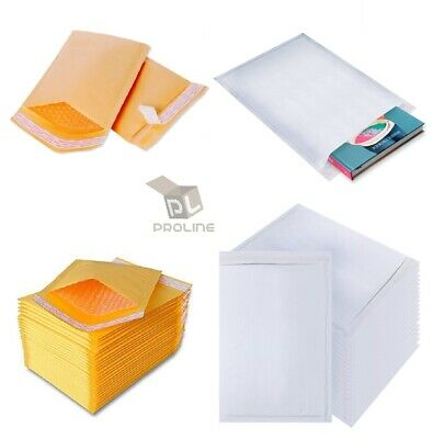 Any Color Kraft Bubble Mailers Shipping Mailing Padded Bags Envelopes Self-Seal