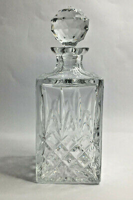 Heavy Crystal Cut Glass Spirit Decanter weighs 2kg Vintage Quality