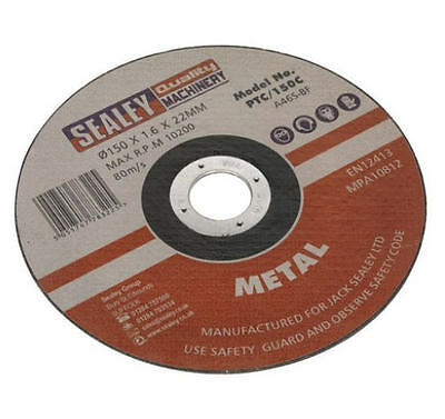 Sealey 150mm x 22mm Foro Mini Metallo Abrasivo Taglio/Taglio Lama Sega Ptc /