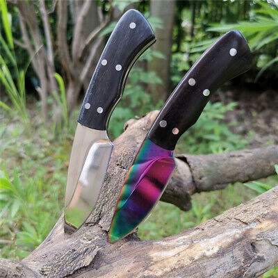 5.51in Sheath Fixed Blade Camping Knives Straight Survival Wood Tactical Knife