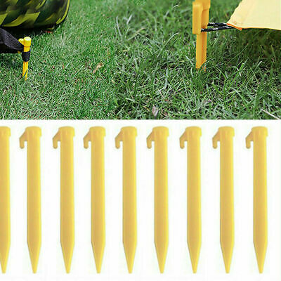 10PCS Plastic Tent Awning Nails Sand Ground Stakes Camping Outdoor Caravan Pegs