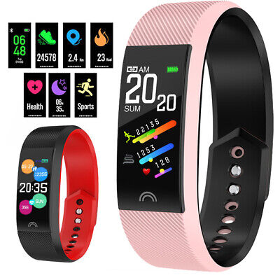 Fitness Tracker Best Step Counter Pedometer Activity Running Fit Watch HeartRate