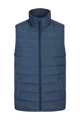 Mountain Warehouse Seasons Textured Padded Men Gilet - Microfibre Insulate - DWR