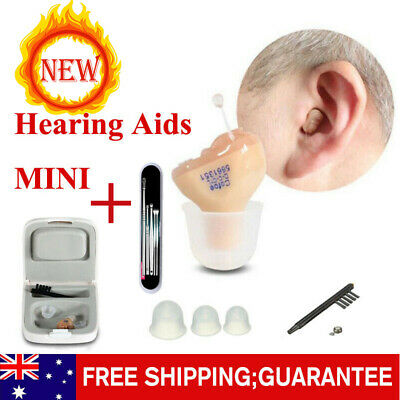 New! Mini Hearing Aid Enhancer In Ear Adjustable Volume Invisible Amplifier AU