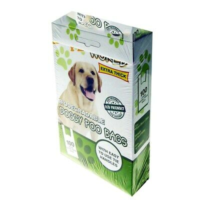 100 Doggy Bags Strong Dog Cat Poo Waste Toilet Pet Bag UK Stock