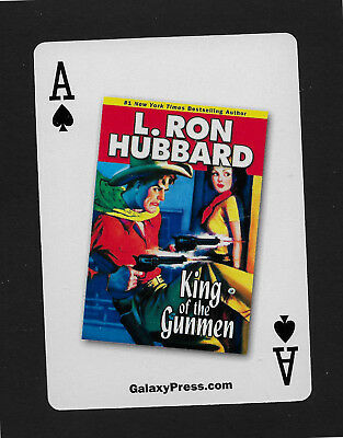 Western Aces L. Ron Hubbard playing card single swap ace of spades - 1 card