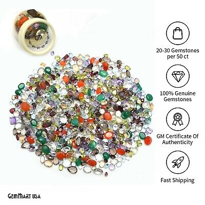 AAA Mixed Gems Semi Precious Loose Natural Gemstones Lots Faceted Cut (MX-60003)