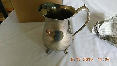 Vintage Leonard silver plate footed water pitcher w/ice lip.