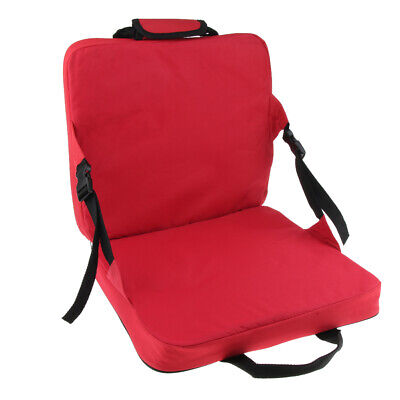 Outdoor Durable Folding Bleacher Chair with Back Support Cushion for Travel