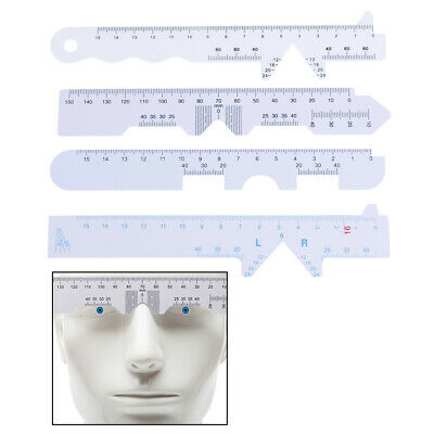 4 Types 4pcs/Set White Eye Straight Edge PD Ruler Pupillary Distance Rulers DS