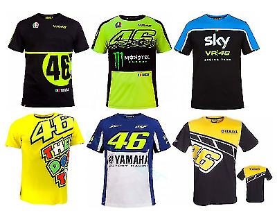 NEW VR46 Yamaha Valentino Rossi Moto Motorcycle Racing MotoGP T-Shirt Quickdry