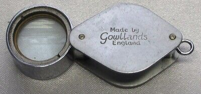 JEWELLERS LOUPE 10x MAGNIFICATION BY GOWLLANDS ENGLAND,STEEL BODY, VINTAGE