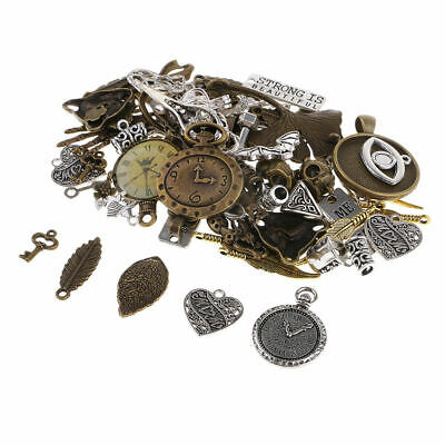 100g Vintage Steampunk Charms Pendants Mixed Styles For Jewelry DIY Making