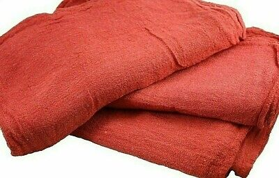 500 Pack New Industrial Commercial Standard Red Shop Cleaning Towel Rags