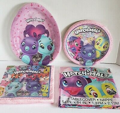 Hatchimals Plastic Table Cover Birthday Party Supplies ~ Baby Animal Hatching