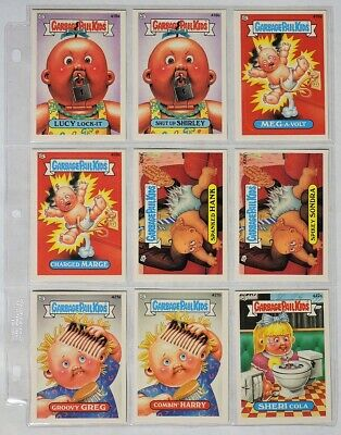 ESA3700 VINTAGE Set of 9: GARBAGE PAIL KIDS Sticker Cards 418a-422a Topps (1987)