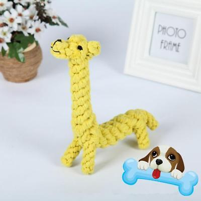 Pet Dog Cotton Rope Braided Molar Chew Plush Toy Cat Puppy Bite Toy CO