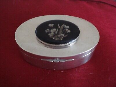 A Fine Solid Sterling Silver English Hallmarked Date 1902 Trinket Box