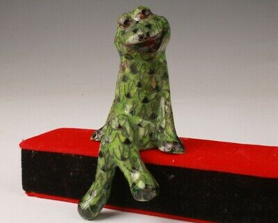 Unique Chinese Cloisonne Hand Carving Frog Statue Gift Collection No Box