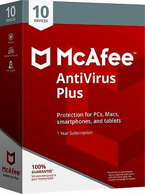 Download McAfee Antivirus PLUS 2019 1 Year Unlimited ANDROID WINDOWS MAC