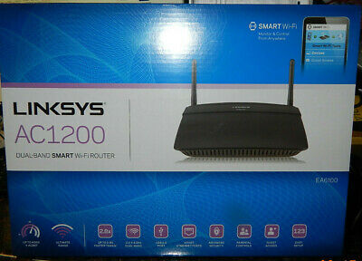 Linksys Smart wifi Wireless AC Dual-Band Router AC1200 EA6100