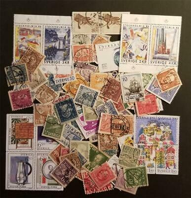 SWEDEN 100 Stamp Collection Lot E833