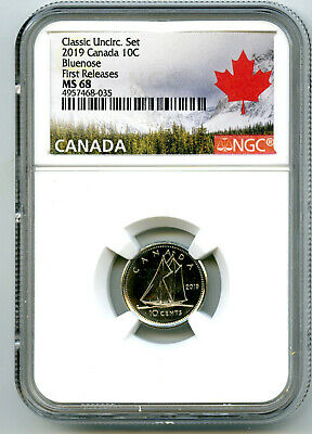 2019 Canada 10 Cent Classic Dime Ngc Ms68 First Releases Rare