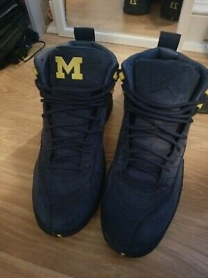 competitive price 1a157 6e211 NIKE AIR JORDAN 12 Retro XII Michigan size 12. Wore once, Comes with OG box.