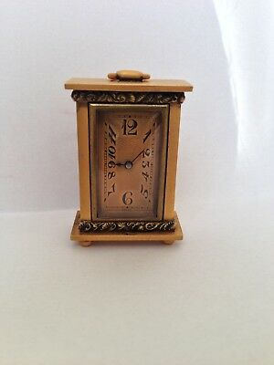 Rare Miniature Ebel Carriage Clock, Ebel Clock