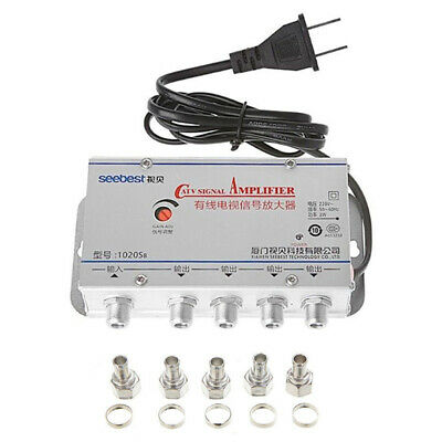 4-Way Port HDTV TV Antenna Signal Amplifier TV CATV Cable Booster Splitters fq
