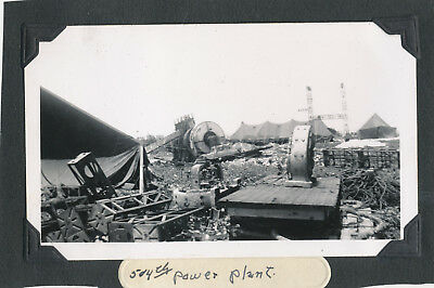 WWII 1944-5 USAAF TINIAN, N Mariana Photo 504th BW Power Plant from Japanese