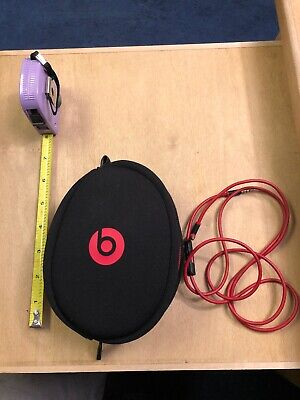 Genuine Beats by Dr. Dre Headphone Soft carrying Case Black/ Red