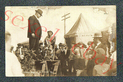 S PINES NC CIRCUS SIDESHOW TRAINED MONKEY - circa 1915 Postcard GRADE 2