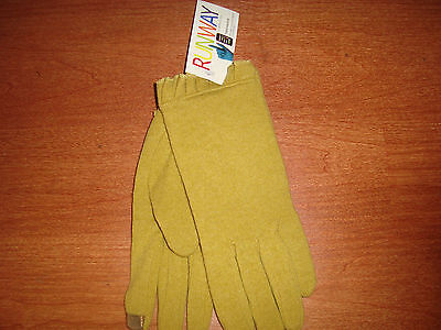 * XL Womens echo RUNWAY Touch Screen Gloves I-Phone Wool Blend Moss Green