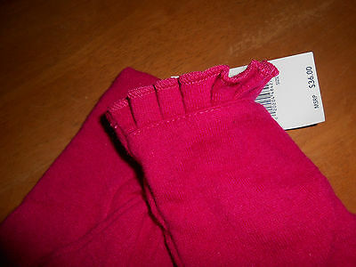 * Size XL Womens Bright Pink RUNWAY Echo Touch Screen Gloves I-Phone Wool Blend