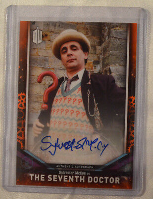 2018 Topps Sylvester McCoy Seventh Doctor Who Signature Edition Autograph 06/10