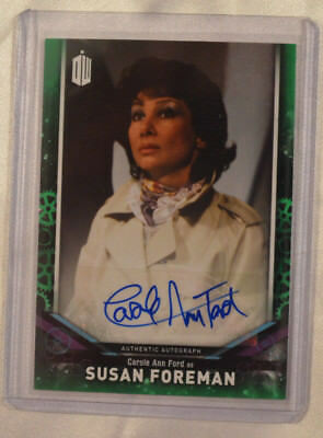 2018 Topps Doctor Who Signature Carole Ann Ford Susan Forman Autograph 32/50