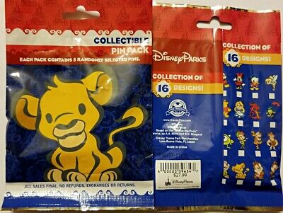 Disney Collectible Pin Pack SIMBA cuties Mystery Bag of 5 Pins Sealed NEW