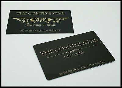 John Wick Continental Hotel Room Card Reeves Mcshane No Coin Baba Yaga Berry