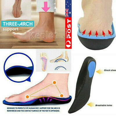 Medical Orthotic Insoles Arch Support Cushion Plantar Fasciitis Orthopedic AU