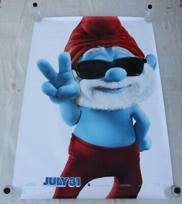The Smurfs 2 Papa Smurf BUS SHELTER MOVIE POSTER 4'x6'
