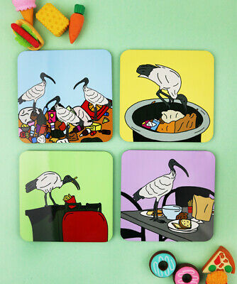 Bin Chicken Coaster Set *NEW*